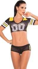 Black and Yellow Fantasy Football Costume