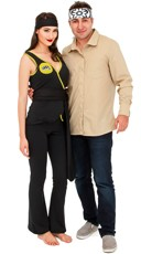 Black Ninja And Karate Master Couples Costume