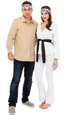 White Ninja And Karate Master Couples Costume
