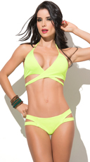 Neon Green Totally Strapped Bikini