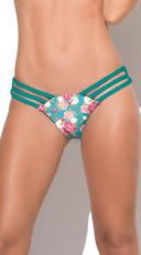 Strappy Floral Bikini Bottom