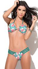 Strappy Floral Print Bikini