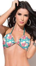 Strappy Floral Print Bikini Top