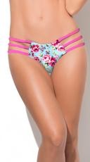 Strappy Floral Print Bikini Bottom