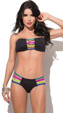 Neon Summer Strappy Bikini
