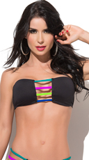 Neon Summer Strappy Bandeau Top