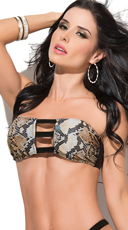 Brown Snake Bandeau Top