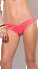 Simply Cinched Coral Bikini Bottom