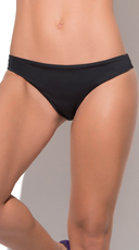 Black Scrunch Hipkini Bottom