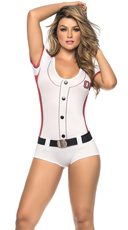Red and White Baseball Costume
