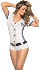 Blue and White Baseball Costume
