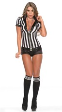 Sexy Sequin Referee Costume