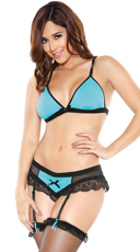Bralette Set with Detachable Gartered Panty
