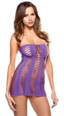 Purple Cut Out Tube Dress
