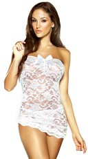 Strapless Lace Bridal Chemise