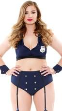 Plus Size Frisk Me Down Lingerie Cop Costume