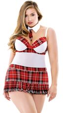 Plus Size Teacher's Pet School Girl Lingerie Costume