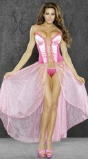 Pink Princess Lingerie Gown