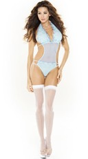 Plus Size Double Strap Halter Teddy
