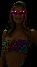 Hot Pink LED Flashing Sunglasses