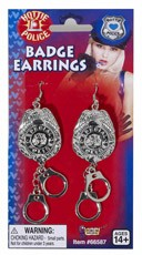 Police Officer Badge Earrings