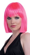 Neon Pink Bob Wig