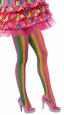 Circus Sweetie Striped Fishnets