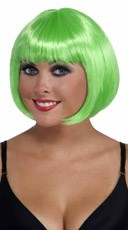 Neon Green Bobbed Wig