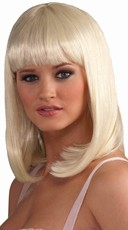 Platinum Blonde Wig with Bangs