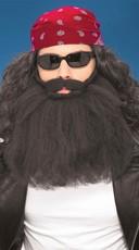Biker Costume Beard and Mustache