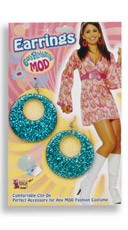 Mod Blue Glitter Earrings