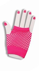 Hot Pink Fishnet Fingerless Gloves