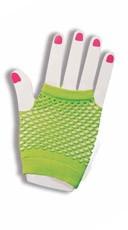 Hot Green Fishnet Fingerless Gloves