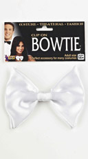 White Clip On Bow Tie