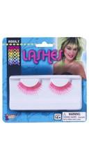 Neon Pink False Eye Lashes