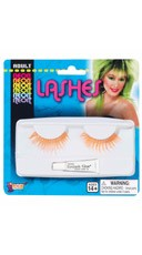 Neon Orange False Eye Lashes