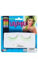 Neon Green False Eye Lashes