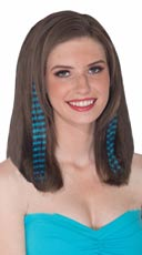 Teal and Black Striped Hair Extension