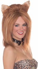 Ginger Fierce Feline Fantasy Wig