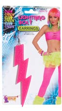 Pink Lightning Bolt Earrings