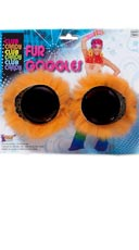 Neon Orange Fur Goggles
