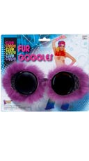 Neon Purple Fur Goggles