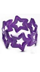 Purple Star Bangle Bracelet