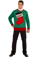 Plus Size Naughty Ugly Christmas Sweater