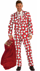 Santa Print Suit Costume