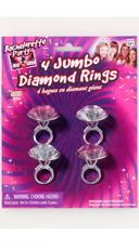 Bachelorette Party Jumbo Diamond Rings