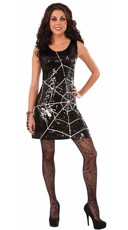 Sexy Web Entrapment Sequin Dress