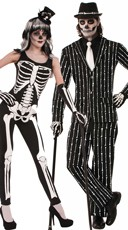Bone Print Couples Costume