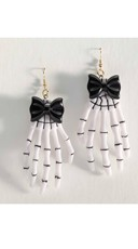 Playful Skeleton Hand Earrings