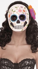In Full Bloom Day of the Dead Face Mask